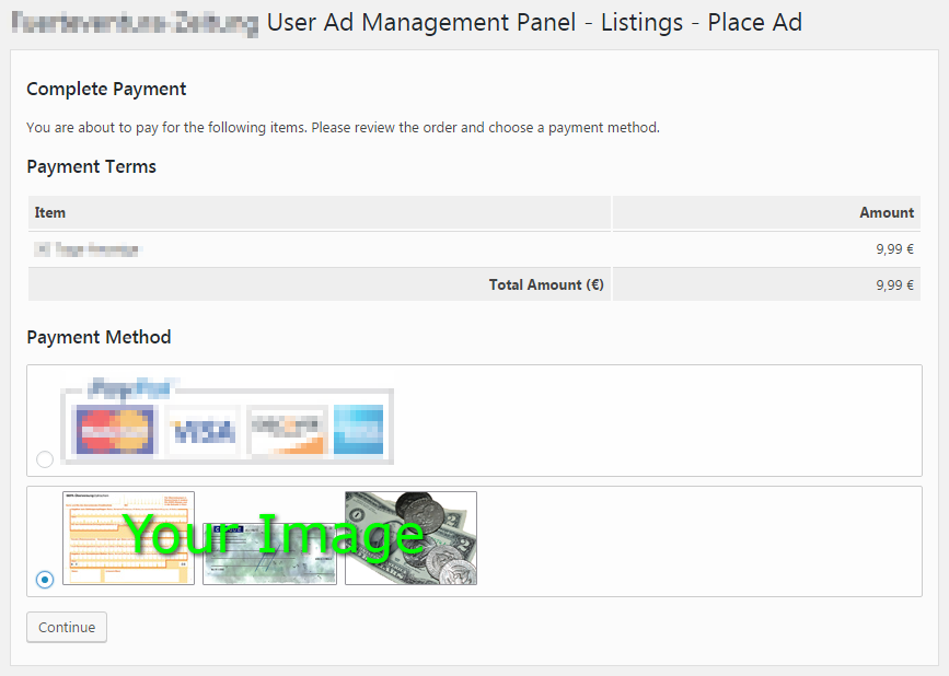 Manual payment gateway for the #1 WordPress Classified Ads Plugin