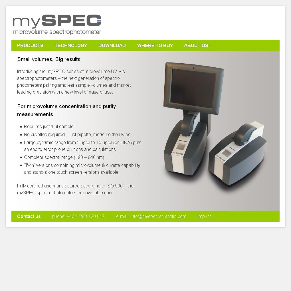 myspec-scientific.com
